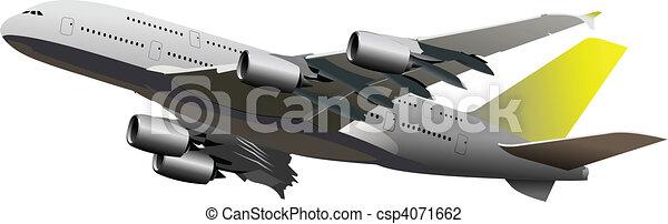 Airplane. Vector illustration - csp4071662