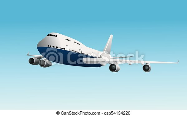 Airplane vector illustration - csp54134220