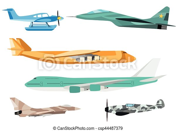 Airplane vector illustration. - csp44487379