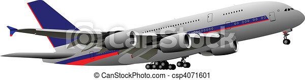 Airplane. Vector illustration - csp4071601