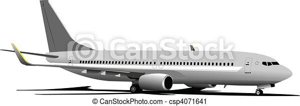 Airplane. Vector illustration - csp4071641