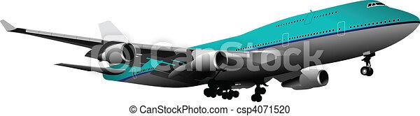 Airplane.  Vector illustration - csp4071520