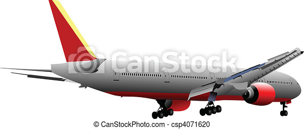 Airplane. Vector illustration - csp4071620