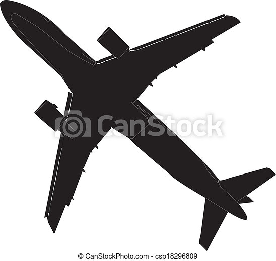 illustration of airplane vector
