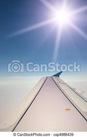 Airplane wing - csp4986439