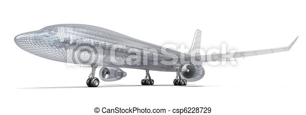 Airplane wire model  - csp6228729