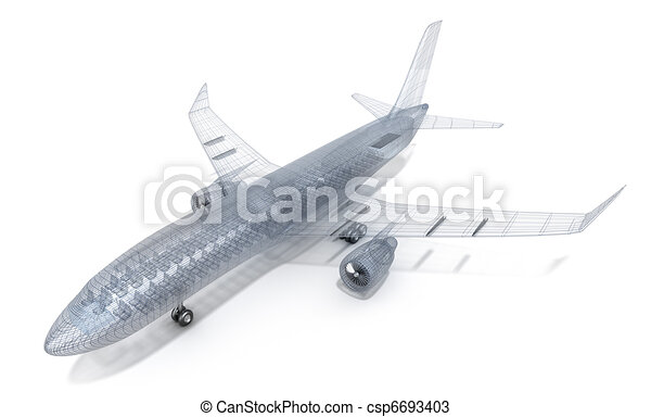 Airplane wire model - csp6693403