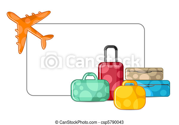 Airplane with Luggage - csp5790043