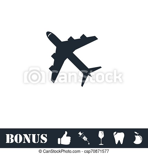 Airplanes icon flat - csp70871577