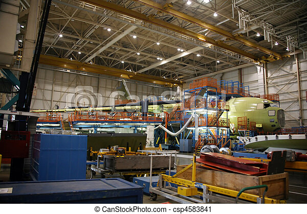 Airplanes in Production - csp4583841