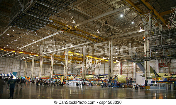 Airplanes in Production - csp4583830