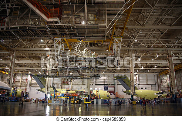 Airplanes in Production - csp4583853