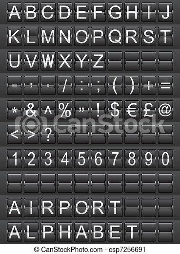 airport alphabet - csp7256691