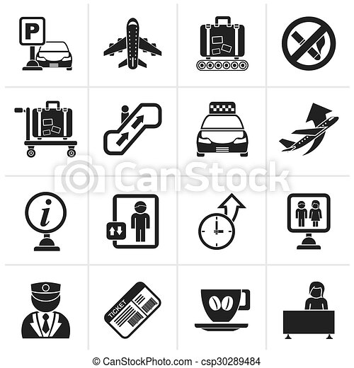 Airport and transportation icons - csp30289484