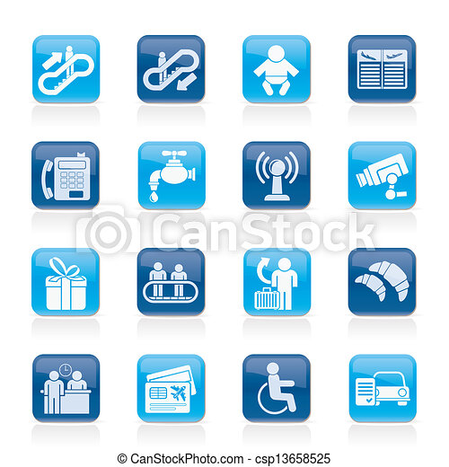 Airport and transportation icons - csp13658525