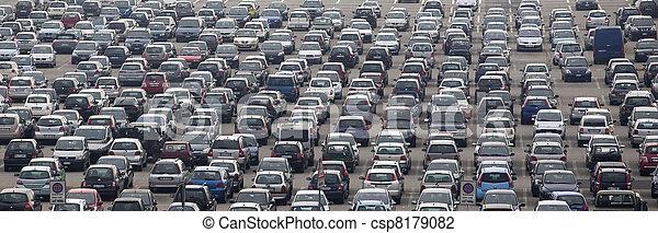 Airport car parking - csp8179082