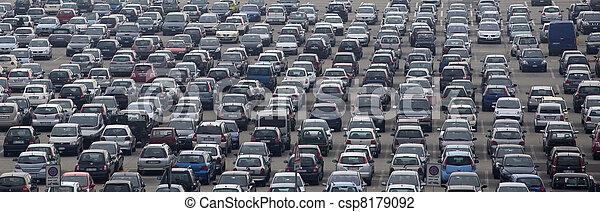 Airport car parking - csp8179092