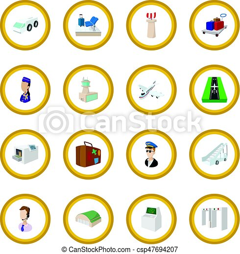 Airport cartoon icon circle - csp47694207