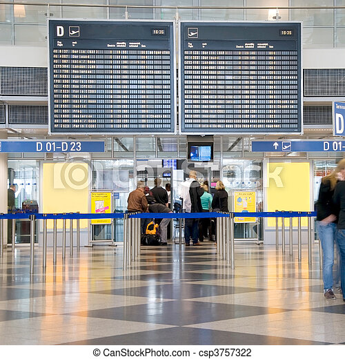 airport check-in - csp3757322