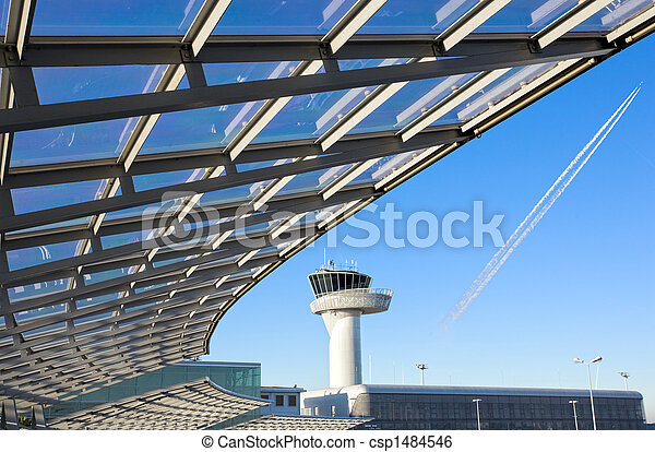 airport control tower - csp1484546