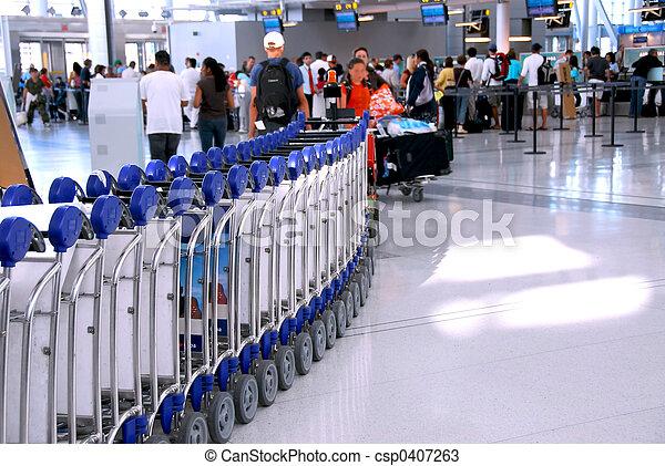 Airport crowd - csp0407263
