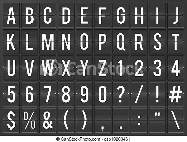 Airport flip board full alphabet  - csp10200461