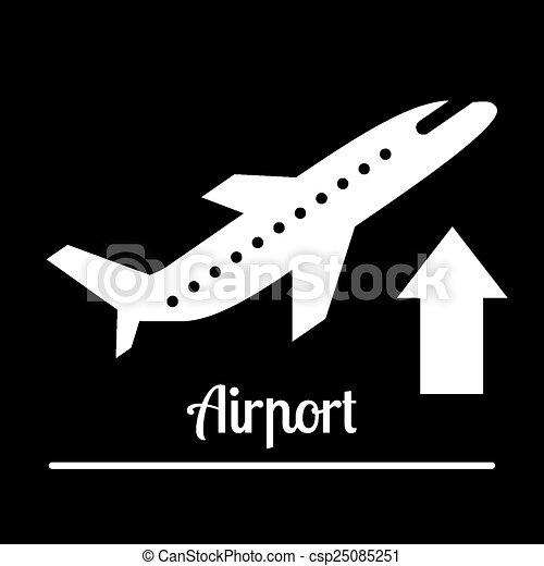 airport icons  - csp25085251