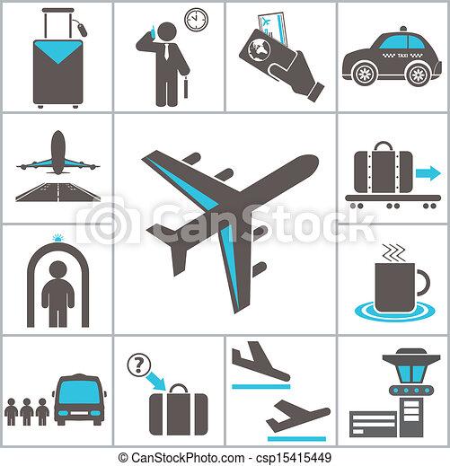 Airport icons - csp15415449
