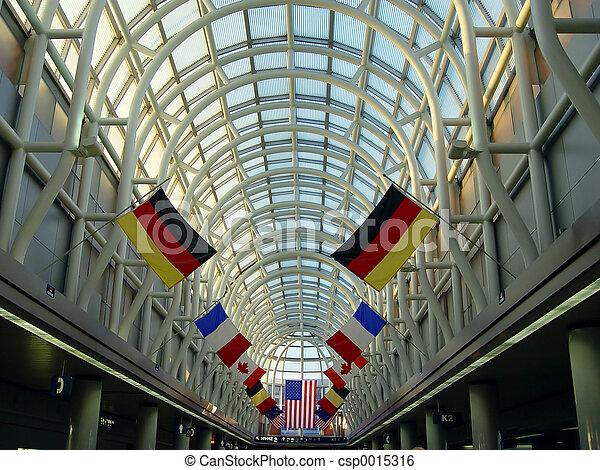 Airport in Chicago - csp0015316