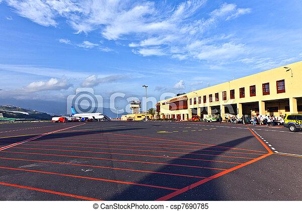 Airport in La palma - csp7690785