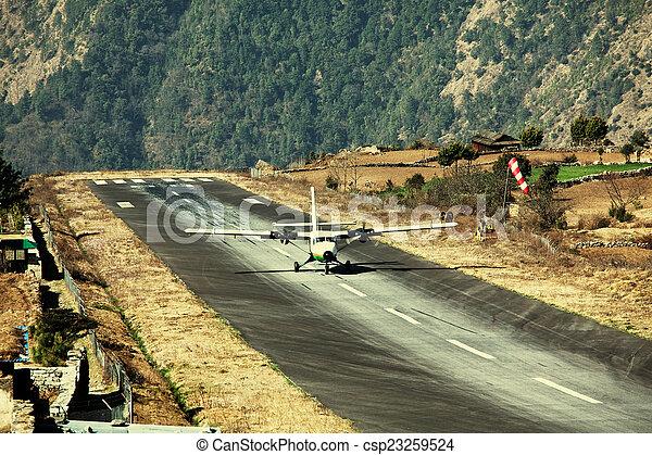 Airport in Lukla - csp23259524