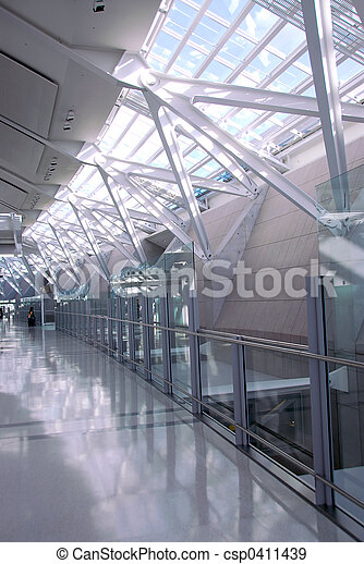 Airport interior - csp0411439