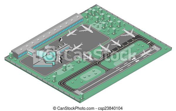 Airport Isometric Concept - csp23840104