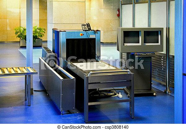 Airport metal detector - csp3808140