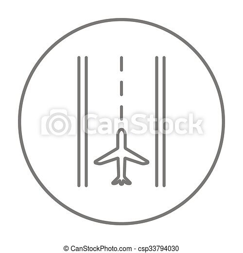 Airport runway line icon. - csp33794030