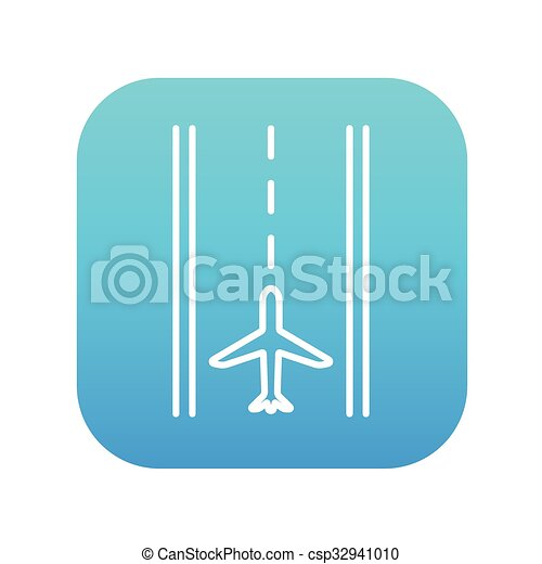 Airport runway line icon. - csp32941010