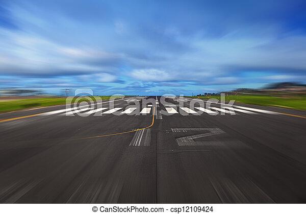 Airport Runway - csp12109424