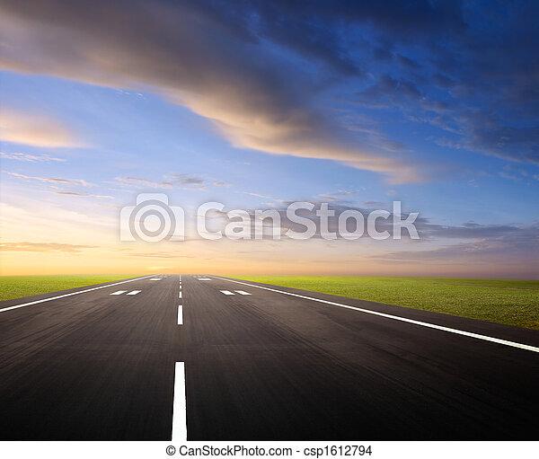 airport runway - csp1612794