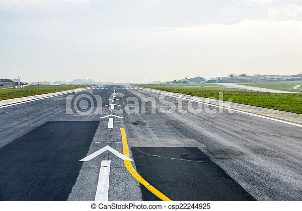 airport runway - csp22244925