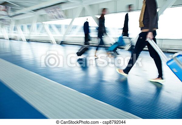 Airport rush - csp8792044
