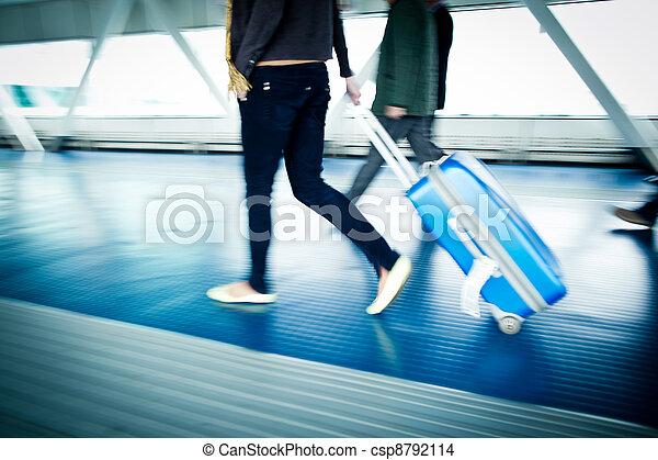 Airport rush - csp8792114