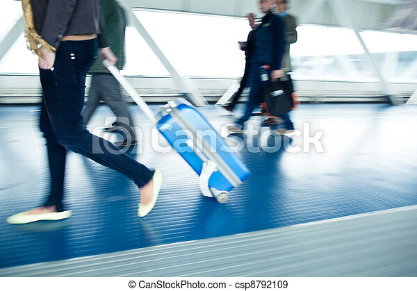Airport rush - csp8792109