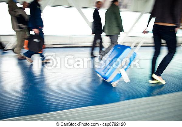 Airport rush - csp8792120