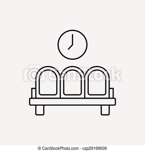 airport seat line icon - csp29169509
