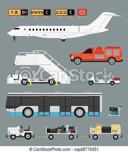 Airport Baggage Car Cartoon
