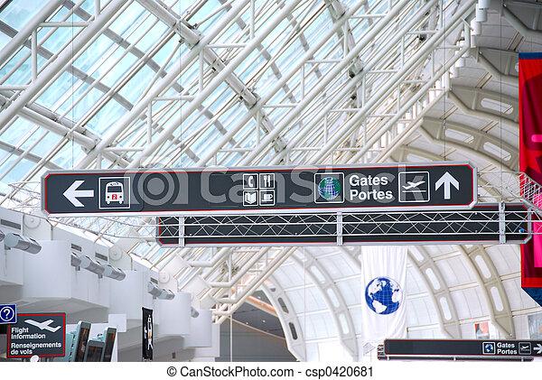 Airport sign - csp0420681
