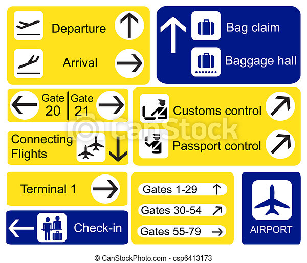 Airport signs - csp6413173