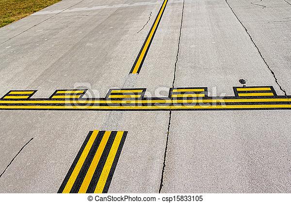 Airport stop lines - csp15833105