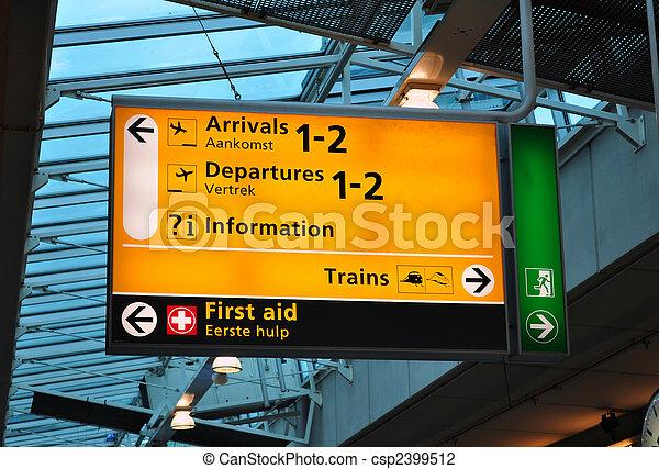 Airport terminal sign - csp2399512