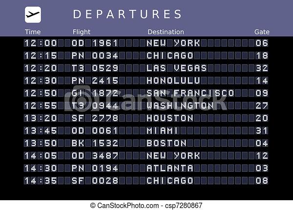 Airport timetable - csp7280867